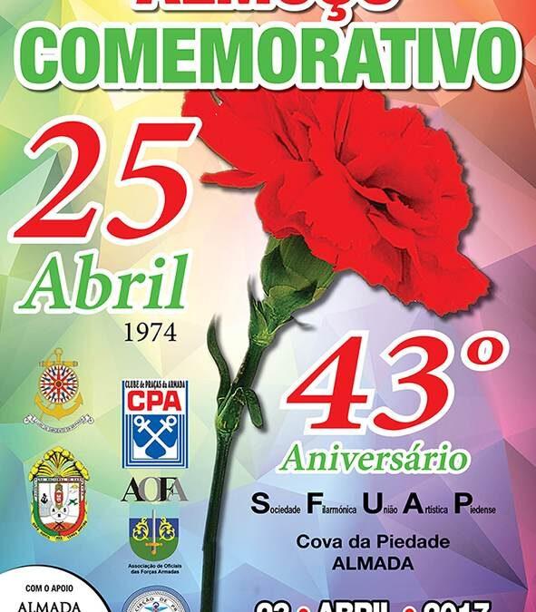 Comemoração do 43º aniversário do 25 de Abril de 1974