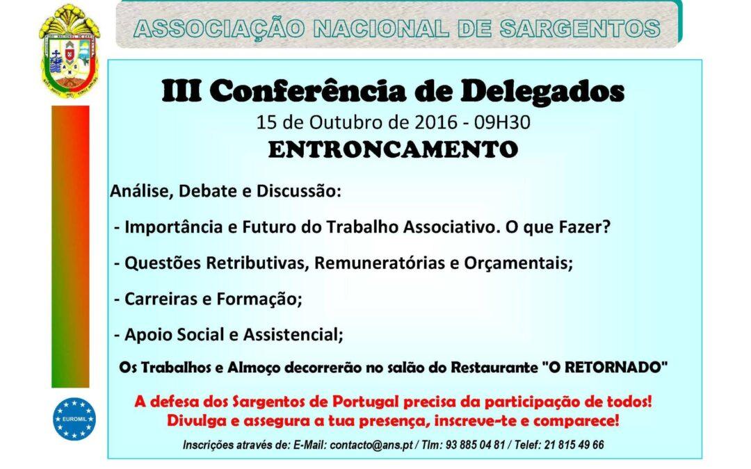 III CONFERÊNCIA NACIONAL DE DELEGADOS