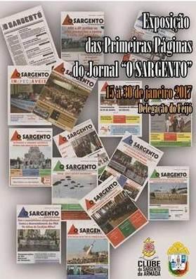 Convite para Exposição Jornal O Sargento