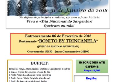 "Entroncamento – Restaurante ""Bonito by Trincanela"" – 6  Fevereiro 2018 – 19:30"