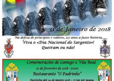 """Lamego/Vila Real – Restaurante """"O Padrinho"""" – 1  Fevereiro 2018 – 20:00"""