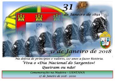 Madeira – Santana – 27 Janeiro 2018 – 20:00