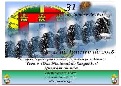 Chaves - Albergaria Borges - 31 Janeiro 2018 - 20:00