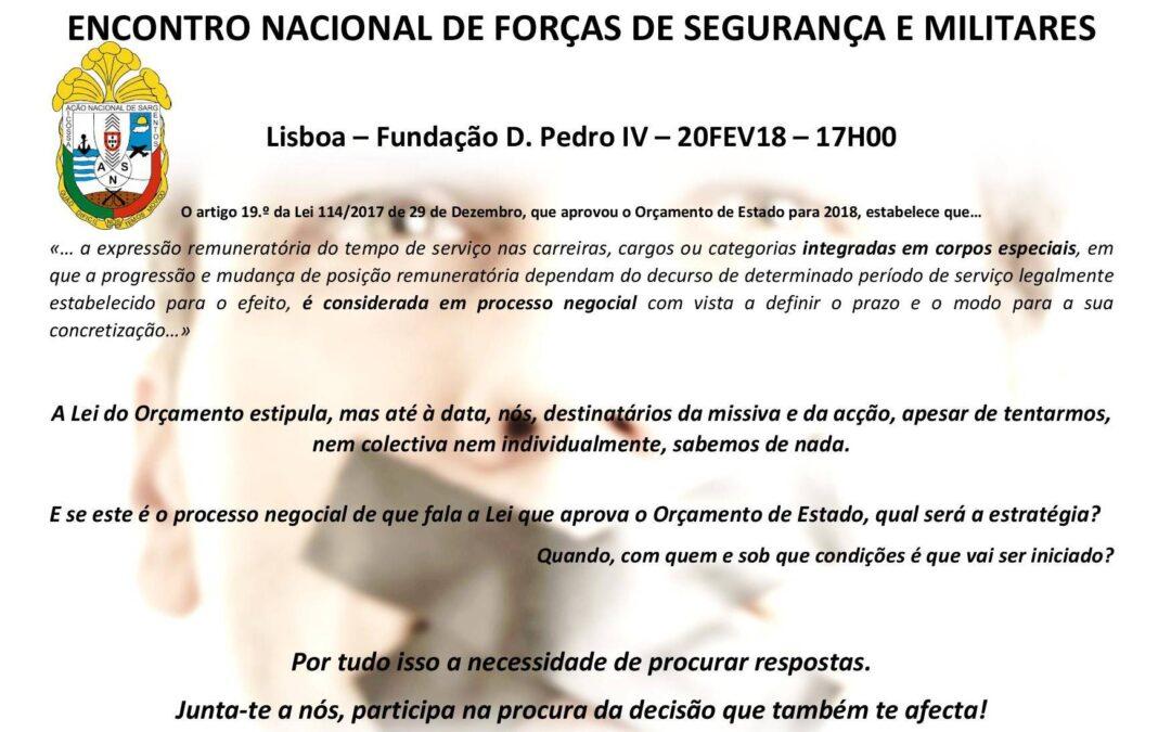 ENCONTRO NACIONAL DE FORÇAS DE SEGURANÇA E MILITARES