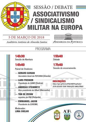 Sessão / Debate – Associativismo / Sindicalismo Militar na Europa