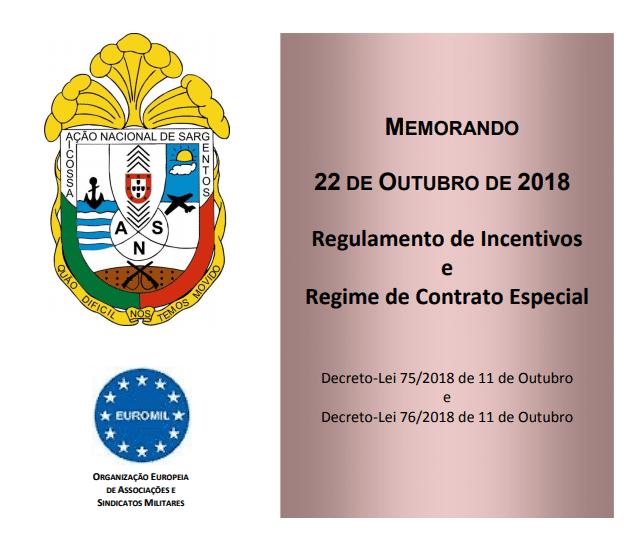 Memorando Regulamento de Incentivos e Regime de Contrato Especial