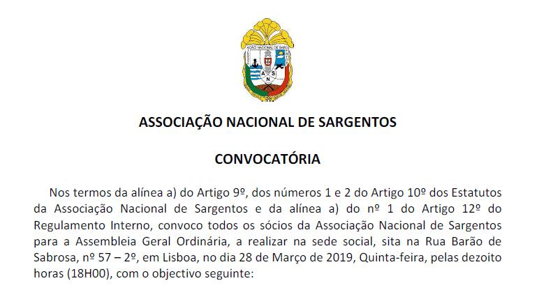 Convocatória para a Assembleia Geral Ordinária no dia 28 de Março de 2019