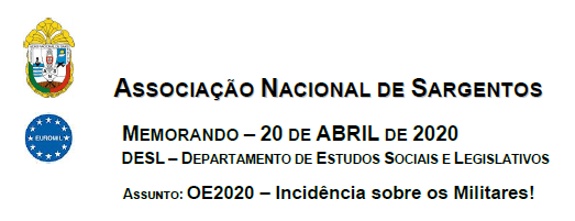 MEMORANDO – 20 DE ABRIL DE 2020 DESL
